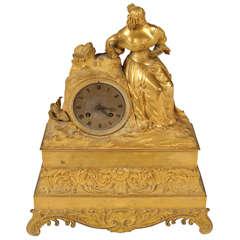 French Empire Ormolu Mantle Clock
