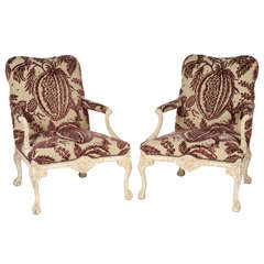 Pair of George III Style Library Chairs