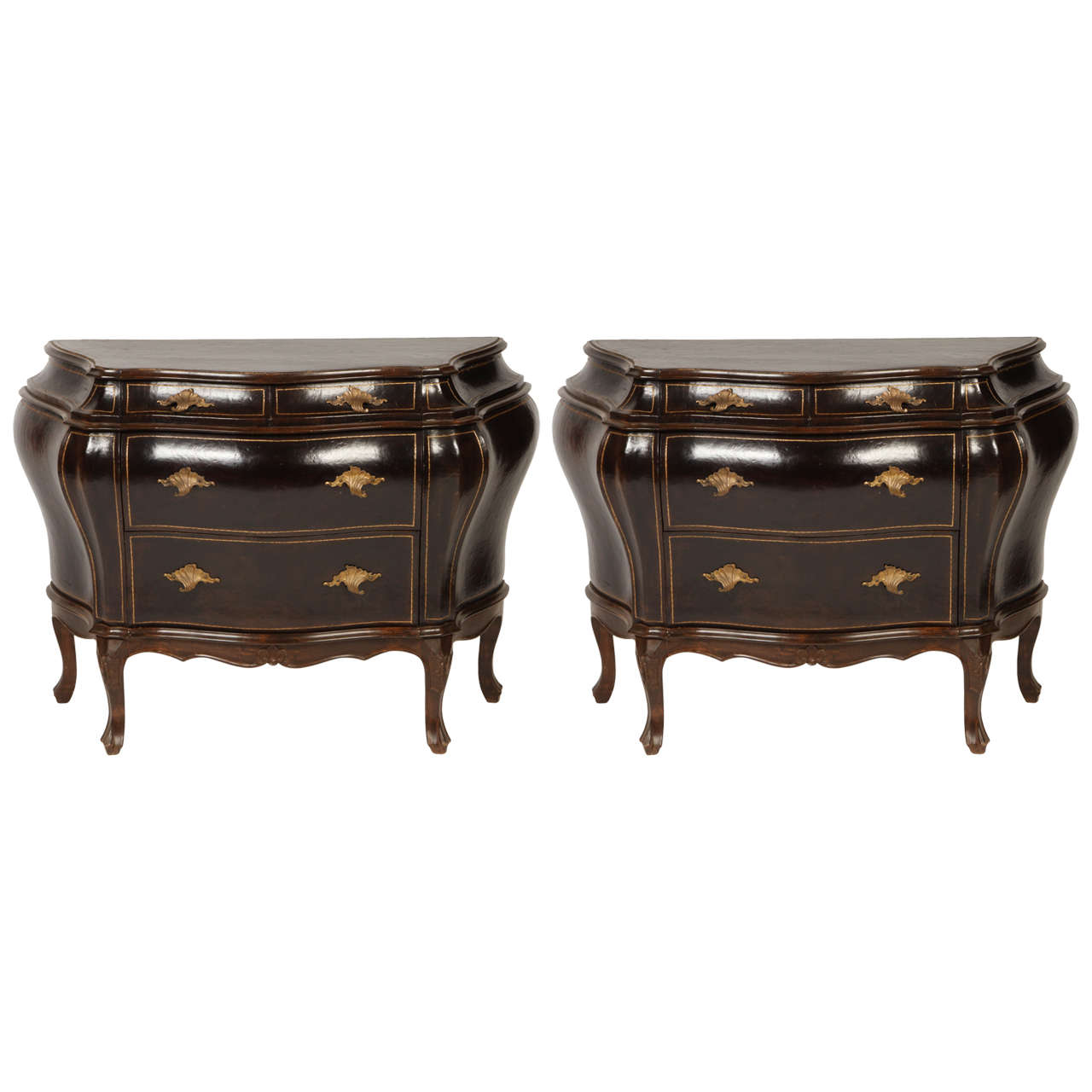 Pair of venetian rococo style commodes at 1stdibs for Rococo style furniture