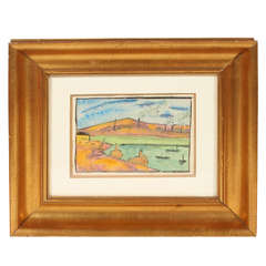 "Painting by Pierre Louis Berjole, ""Le Port"""