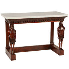 French Mahogany Console Table of Empire Style