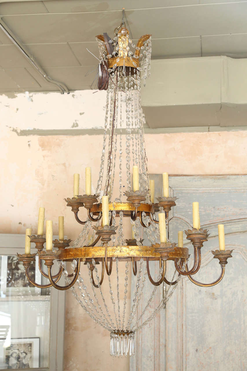 Large Early 19th Century Chandelier from Lucca 2