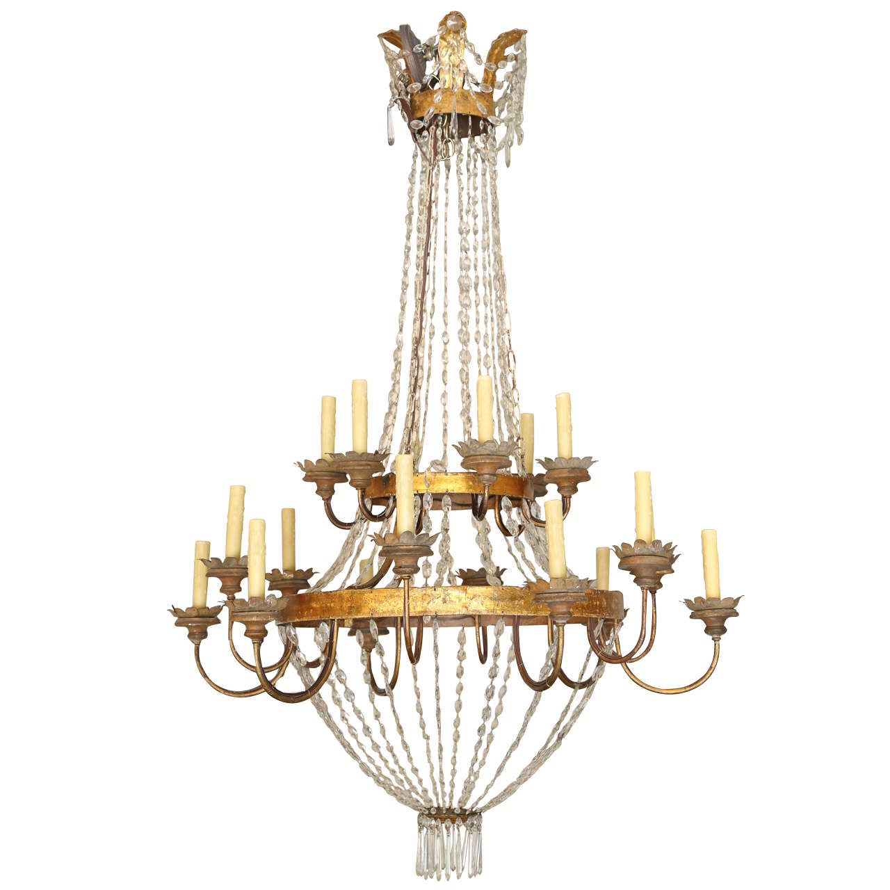 Large Early 19th Century Chandelier from Lucca 1