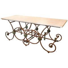 Large French Butcher Table