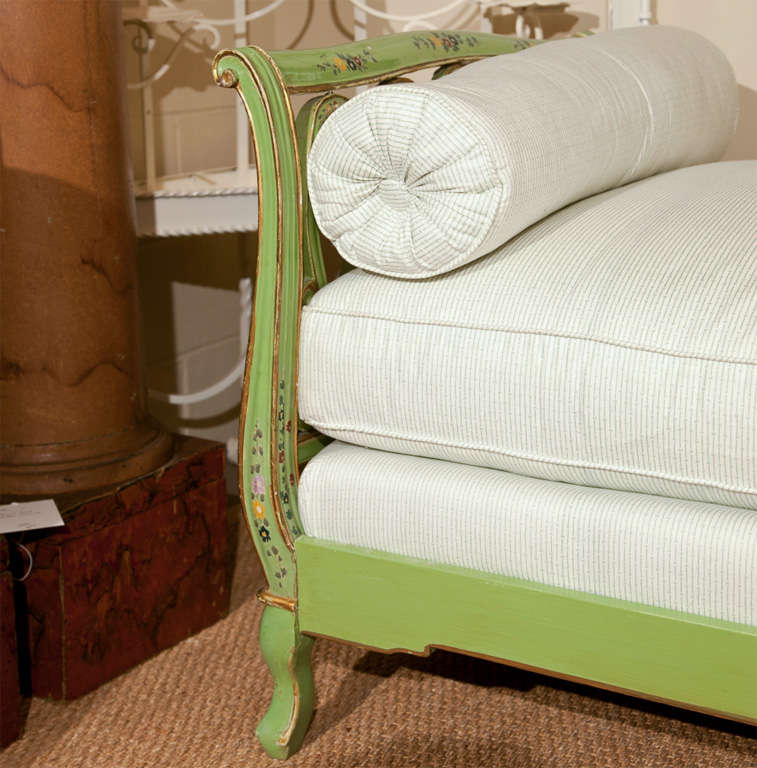 20th Century Painted Italian Style Daybed For Sale