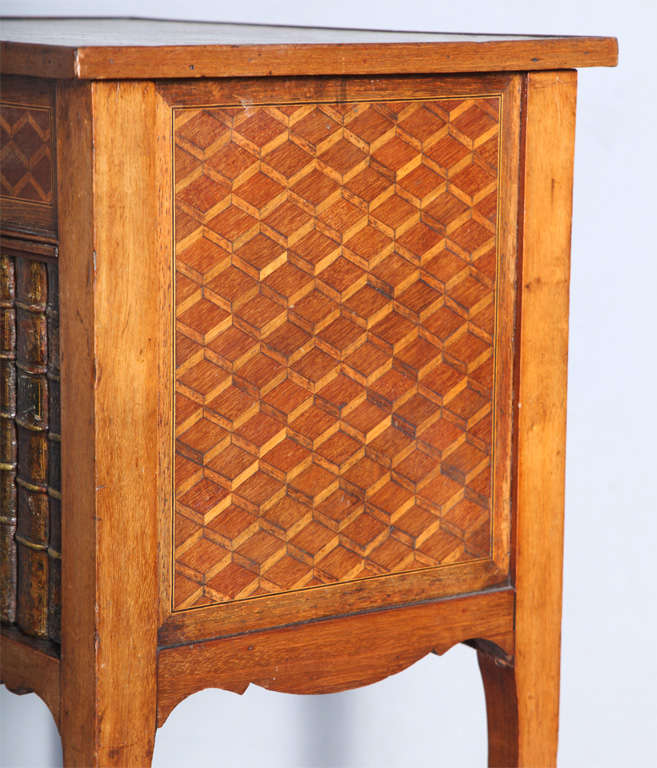 walnut cabinets kitchen pictures inlaid 19c false front book cabinet end table for at 6989