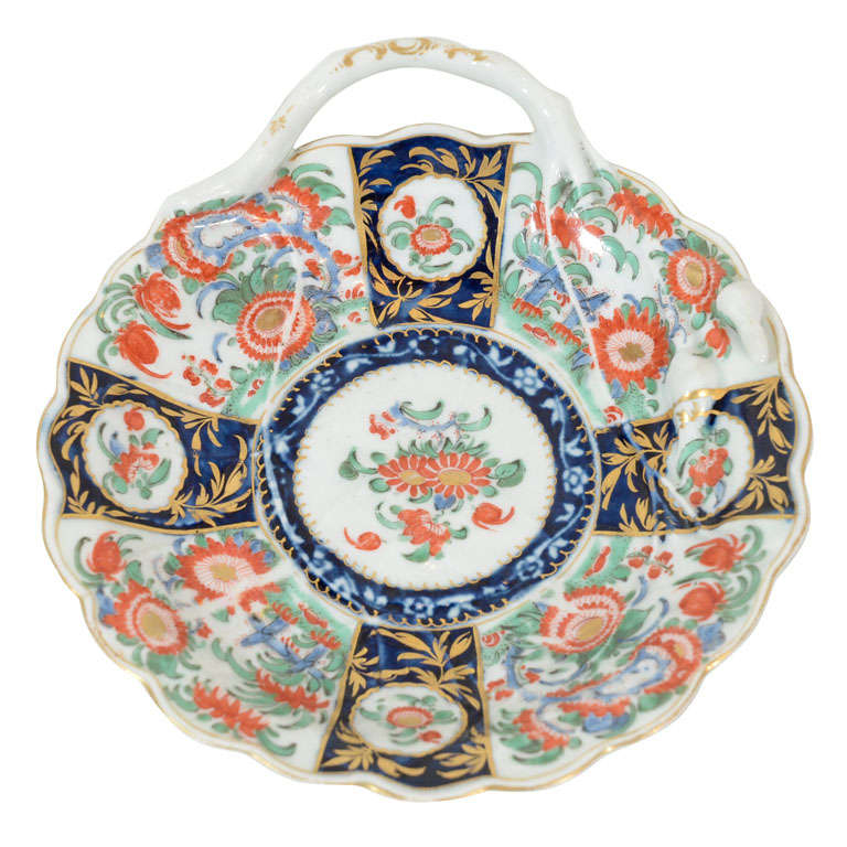 Antique Worcester First Period Porcelain Quot Blind Earl Quot Dish