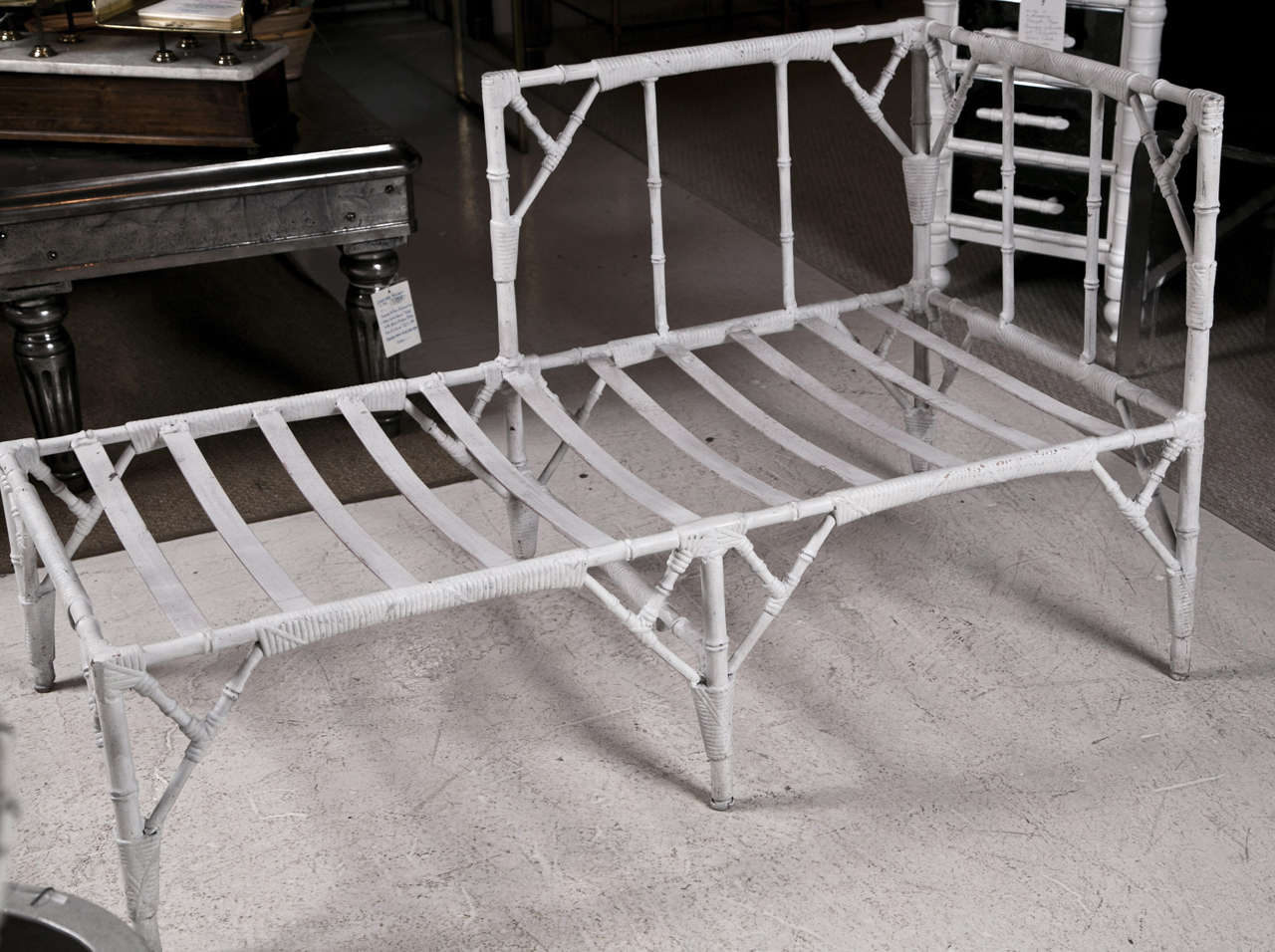 1950 39 s cast aluminum chaise lounge at 1stdibs for Aluminum chaise lounge