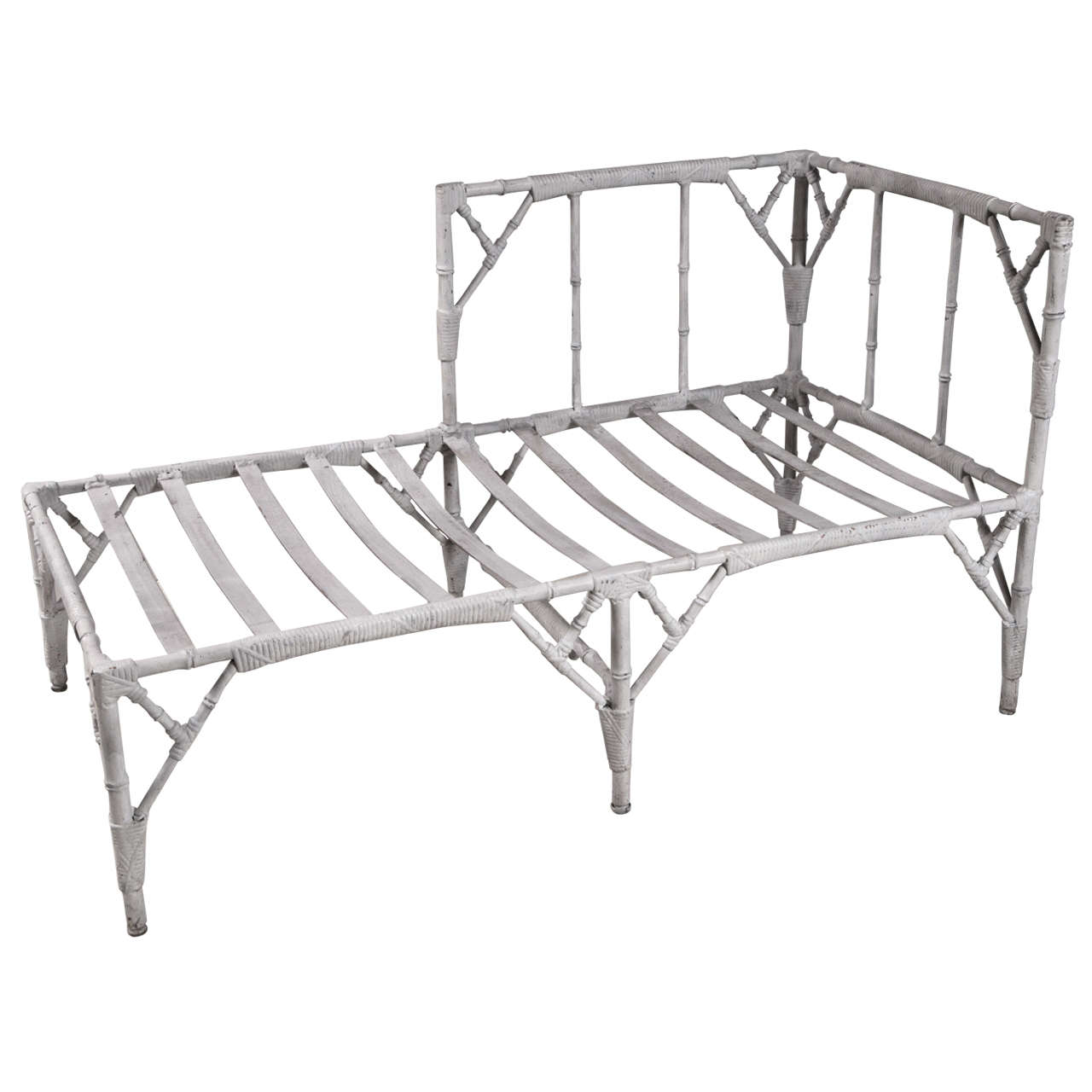 1950 39 s cast aluminum chaise lounge at 1stdibs for Cast aluminum chaise lounge