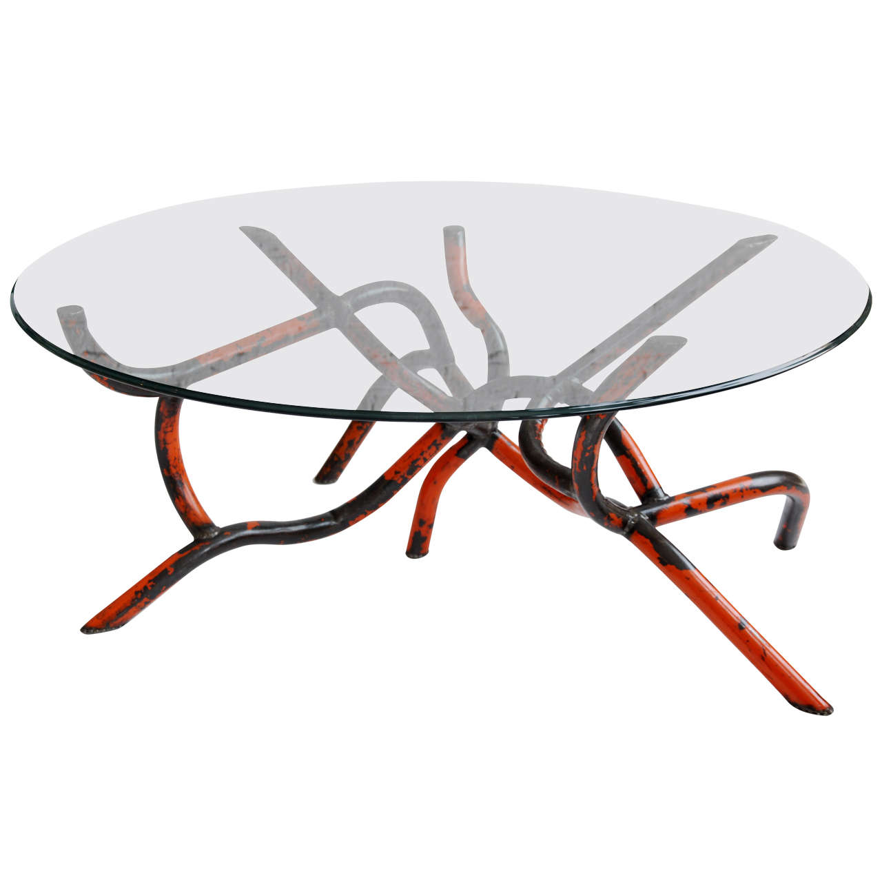 Orange worm coffee table at 1stdibs for Orange coffee table