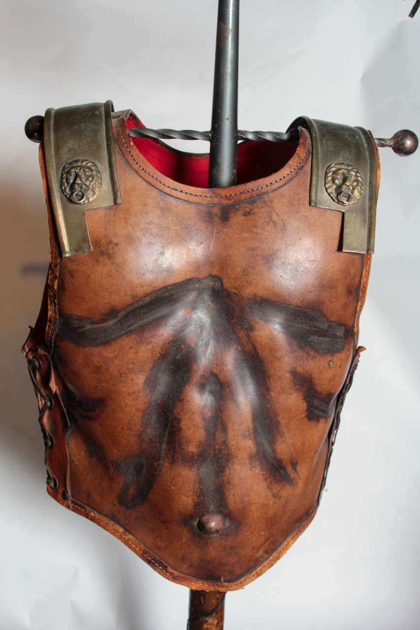 Fabulous Italian 1960s Figural Valet in the Form of a Gladiators Breast Plate In Excellent Condition For Sale In New York, NY