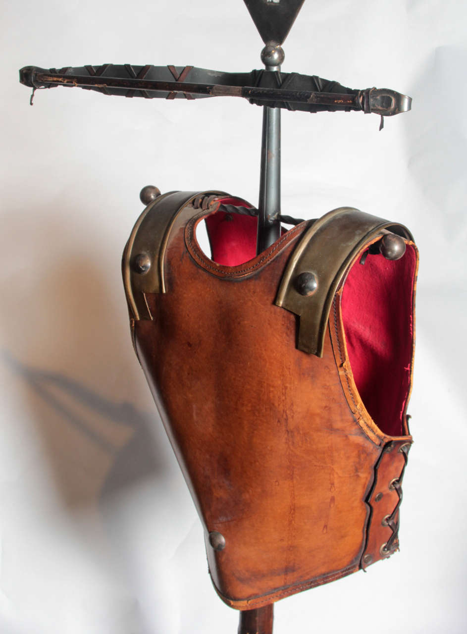 Fabulous Italian 1960s Figural Valet in the Form of a Gladiators Breast Plate For Sale 1
