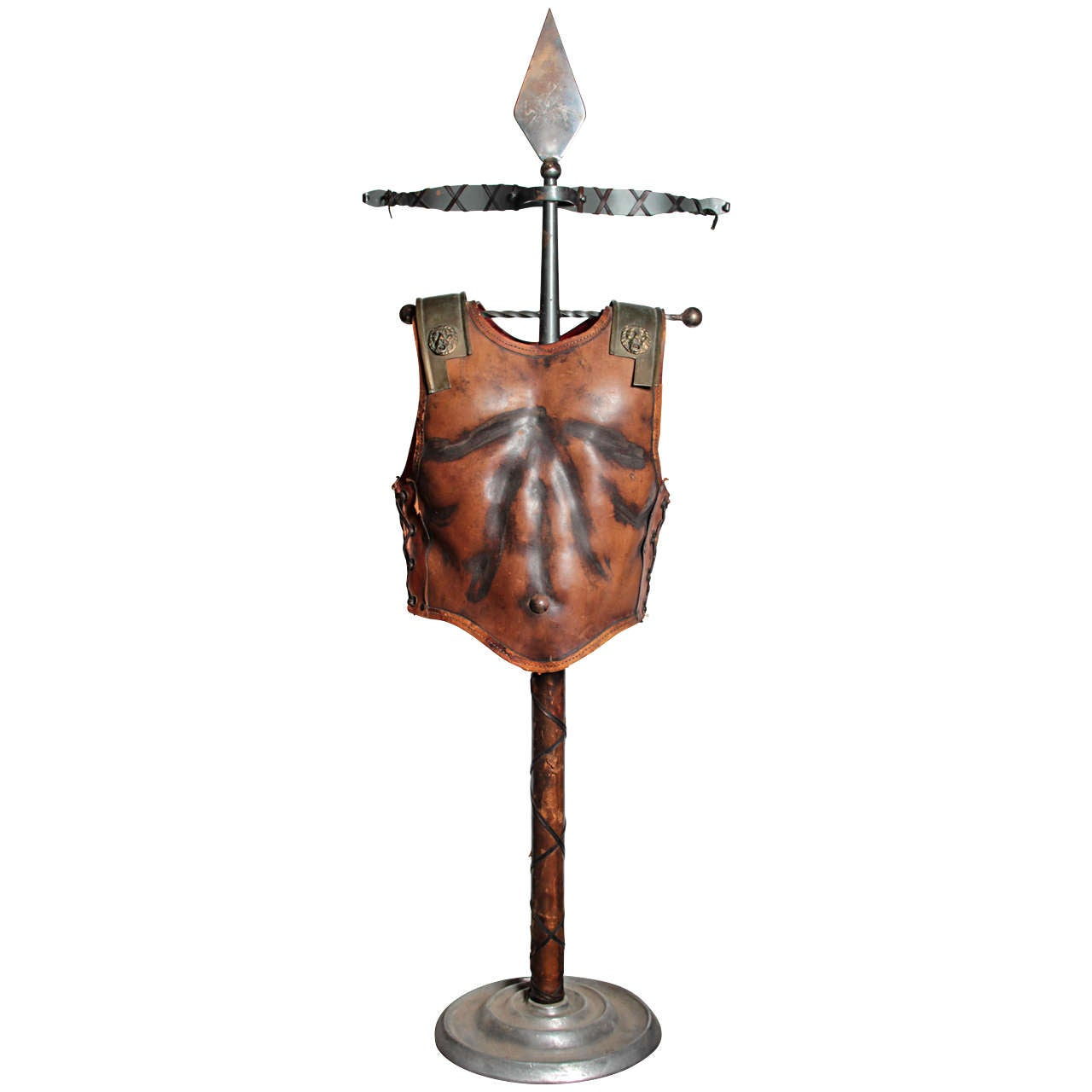Fabulous Italian 1960s Figural Valet in the Form of a Gladiators Breast Plate For Sale