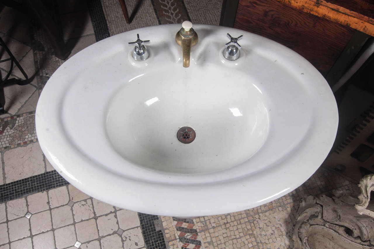 Oval Earthenware Sink From The 1800s At 1stdibs