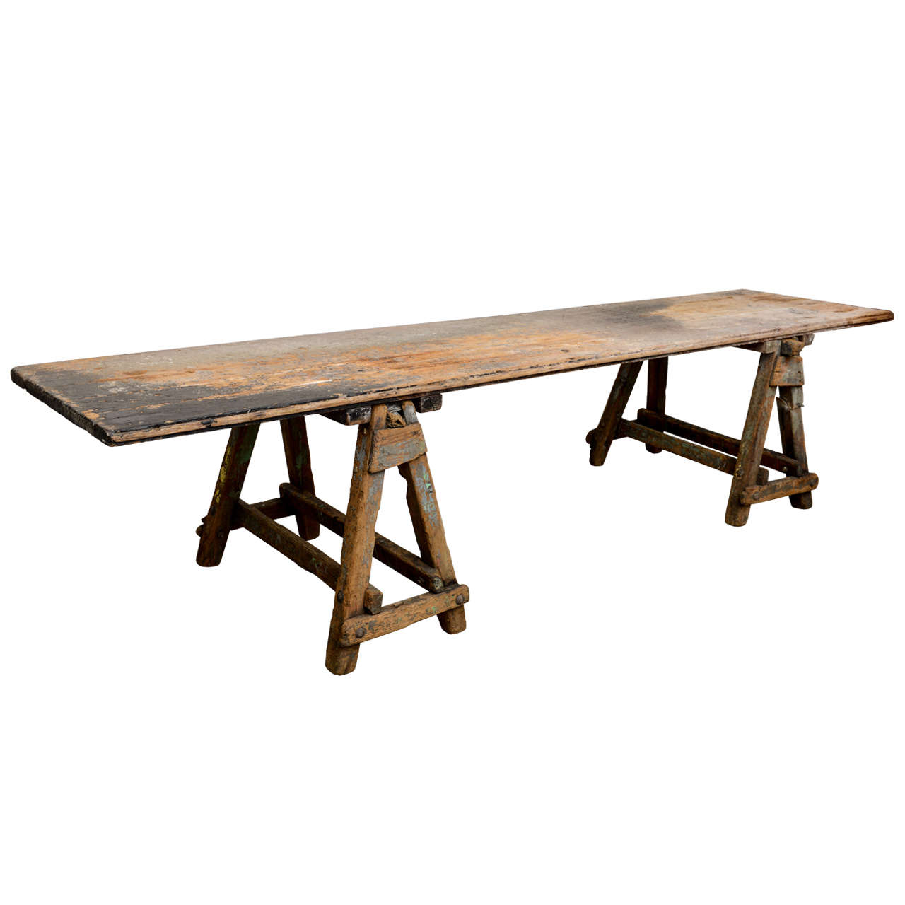 Large Sawbuck Table At 1stdibs. Full resolution  image, nominally Width 1280 Height 1280 pixels, image with #28190E.