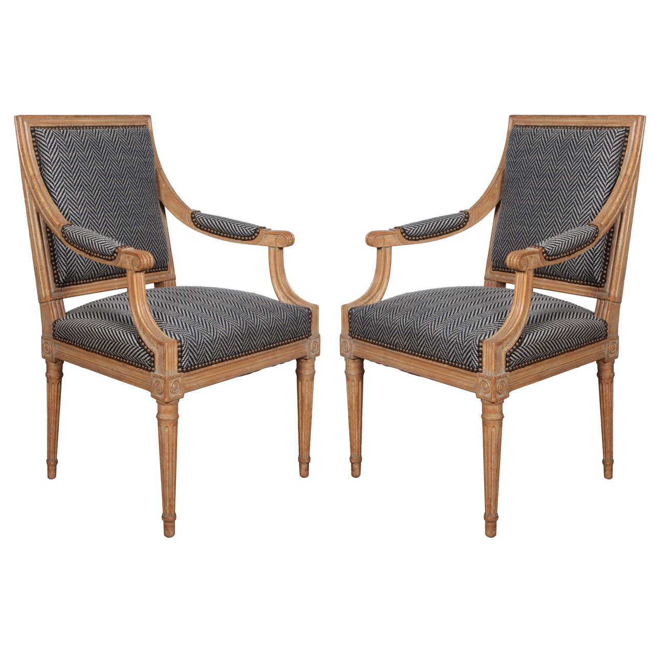 Pair Of 18th Century Herringbone Chairs For Sale At 1stdibs
