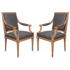 Pair of 18th Century Herringbone Chairs