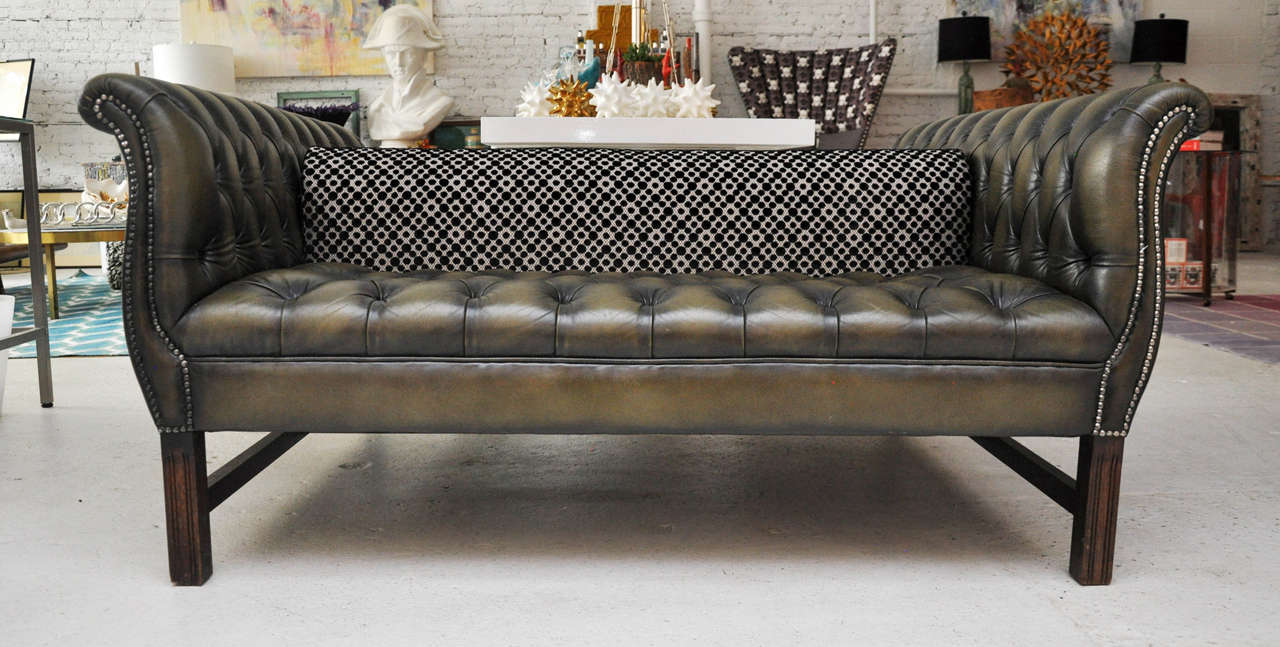 Double Sided Chesterfield Sofa At 1stdibs