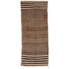 Vintage Moroccan Textured Flat-Weave Rug