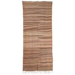 Vintage Berber 'Desert Sand' Flat-Weave Rug