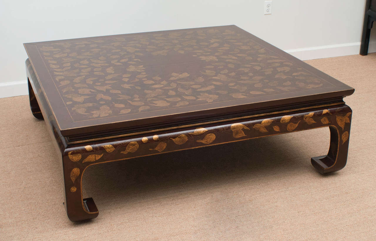 Rose Tarlow Chinese Ming Style Gilt Lacquer Coffee Table At 1stdibs