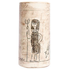Jacques Blin Cylindrical Vase