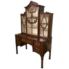 19th Century Chippendale Display Cabinet on Stand