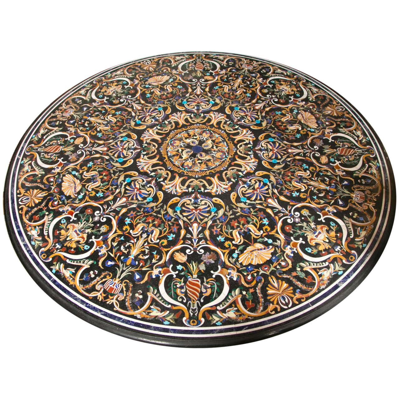 Incredible Pietra Dura Table Top At 1stdibs