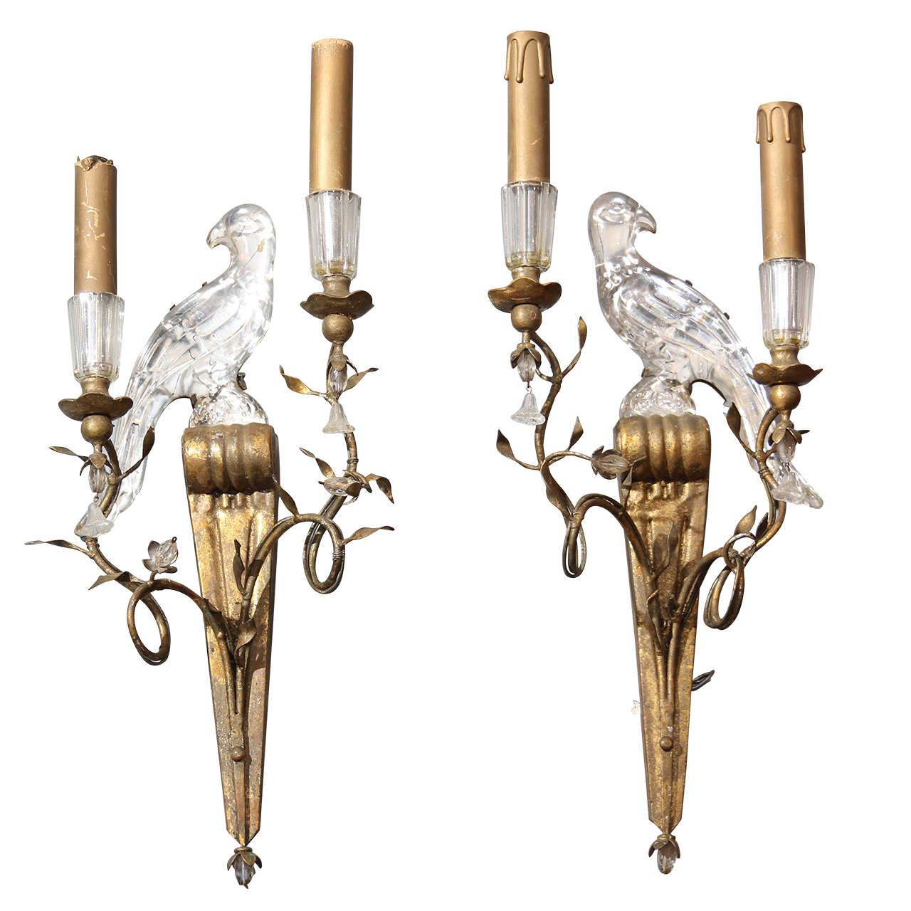 Wall Sconces With Birds : French Bird Sconces at 1stdibs