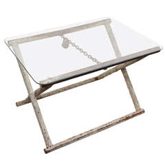Industrial Side Table with Lock