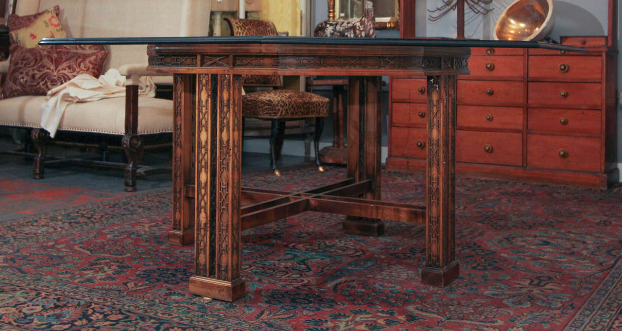 20th Century Maguire Chinoiserie Octagonal Table For Sale