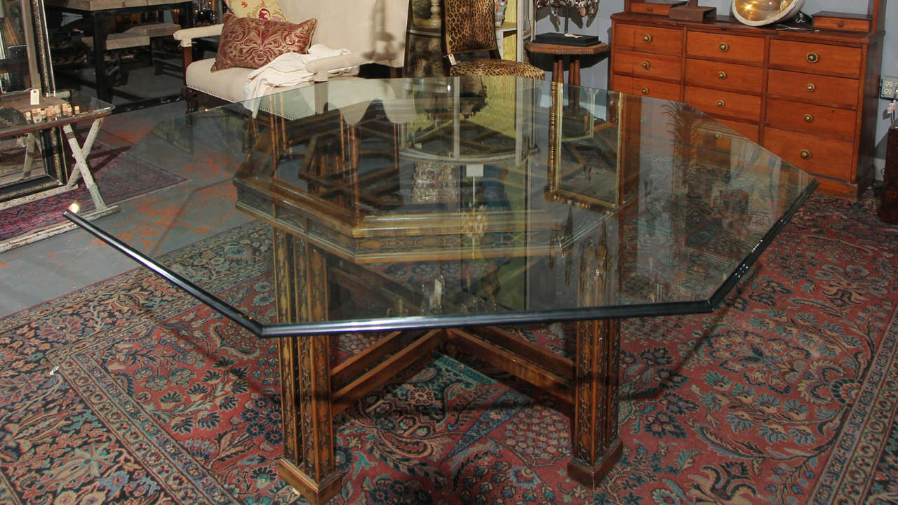 Maguire Chinoiserie Octagonal Table For Sale 1