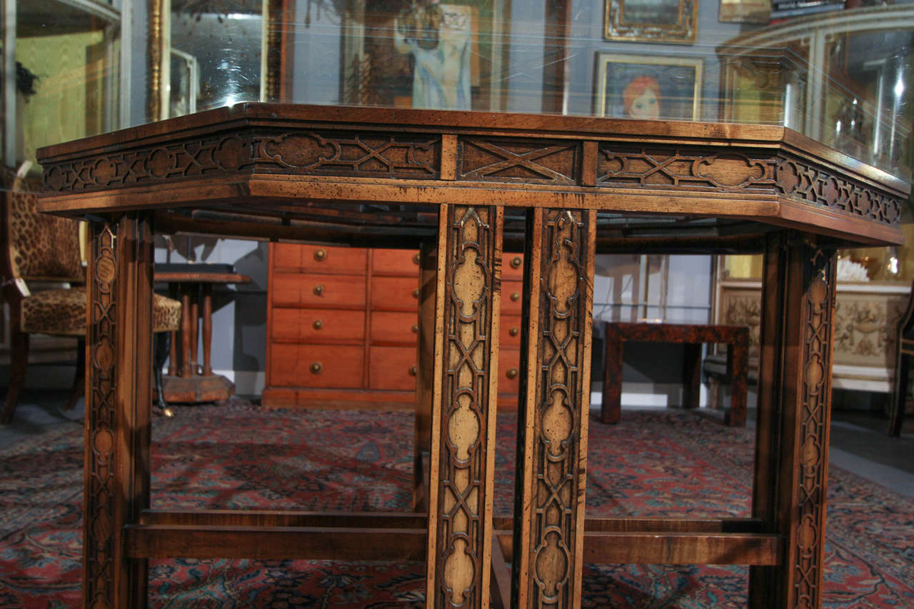 Maguire Chinoiserie Octagonal Table For Sale 2