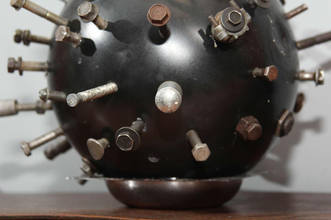 Folk Art Sputnik Bowling Ball Sculpture 6
