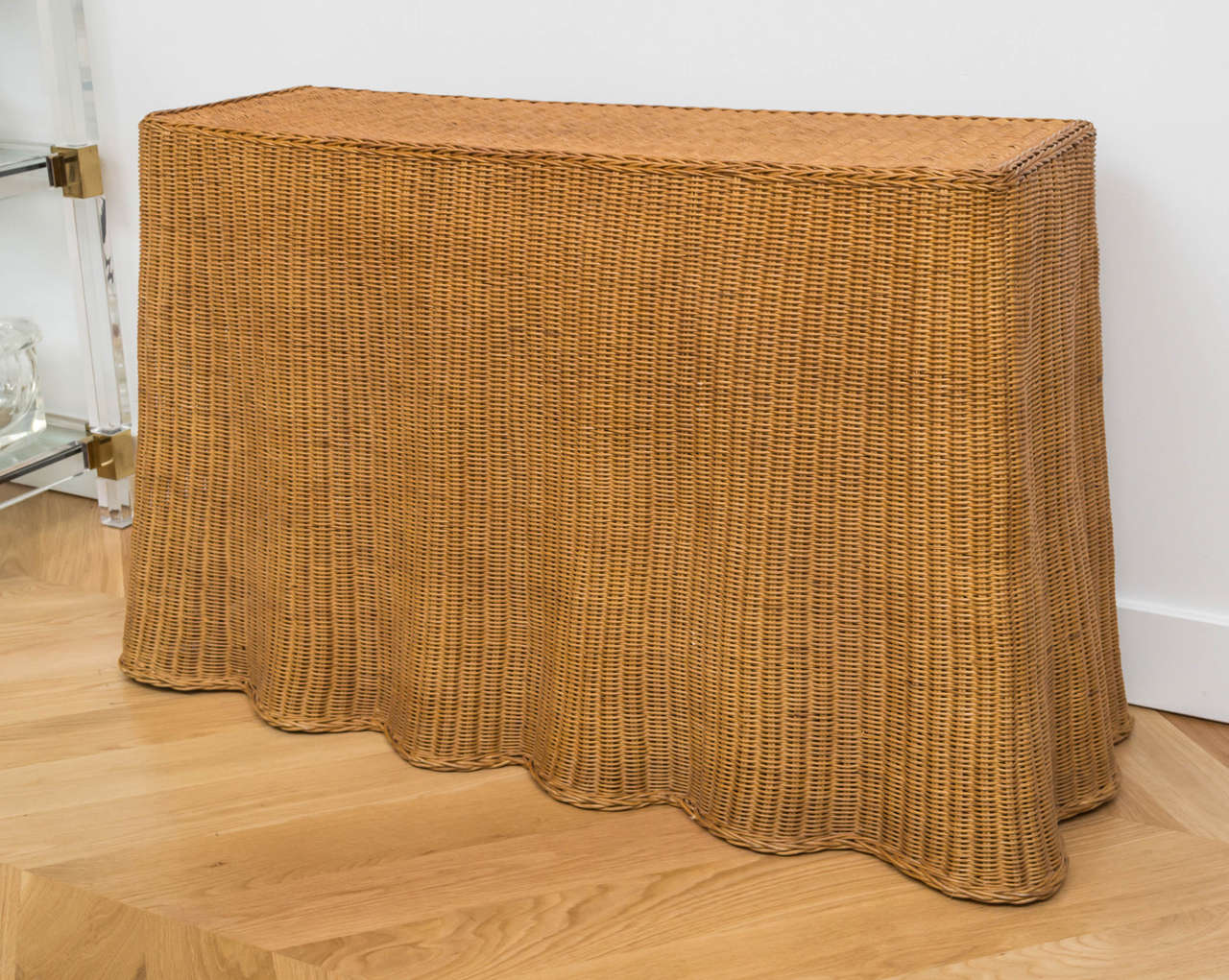 Vintage wicker console at 1stdibs vintage wicker console 2 geotapseo Images