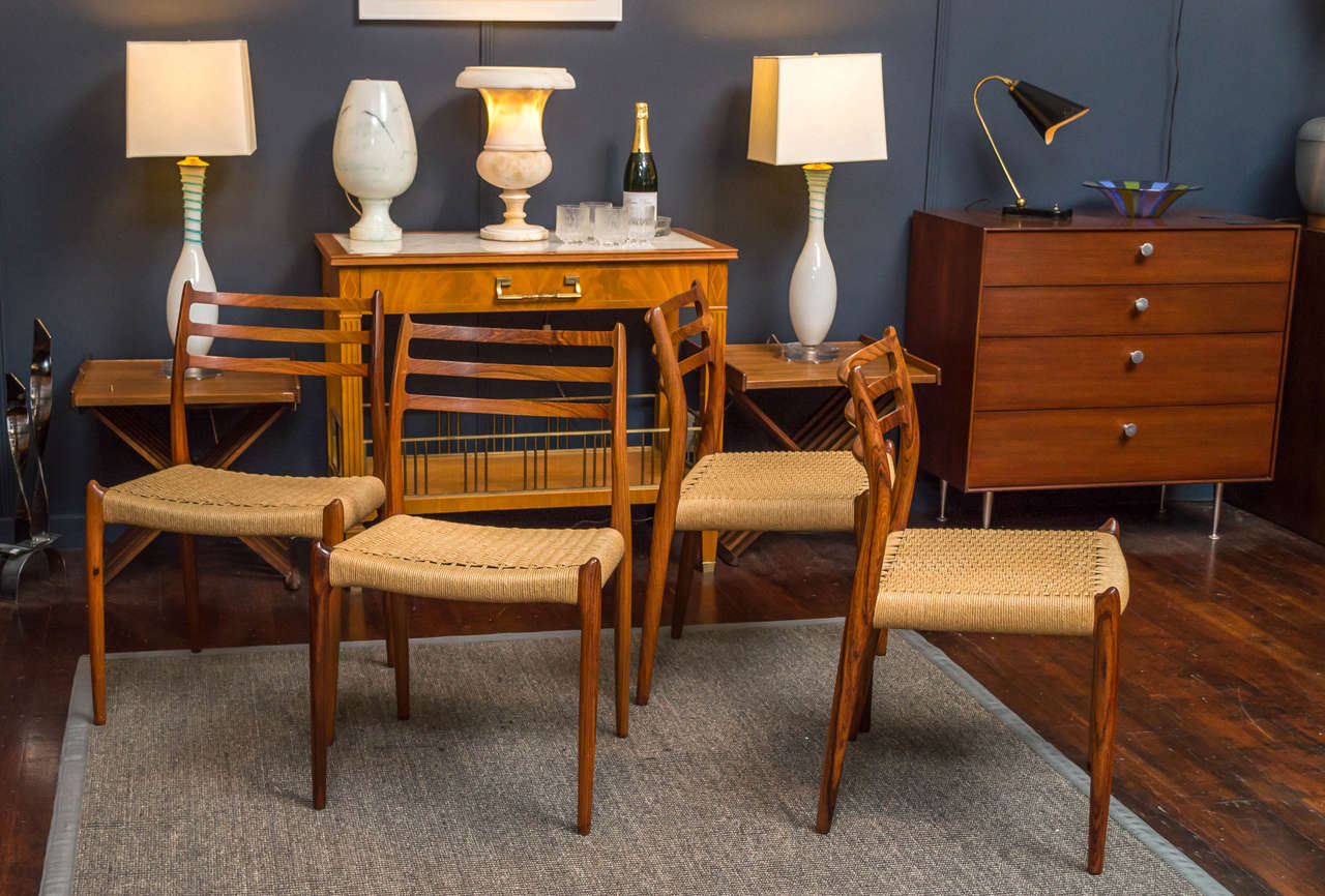 Moller Rosewood Dining Chairs At 1stdibs