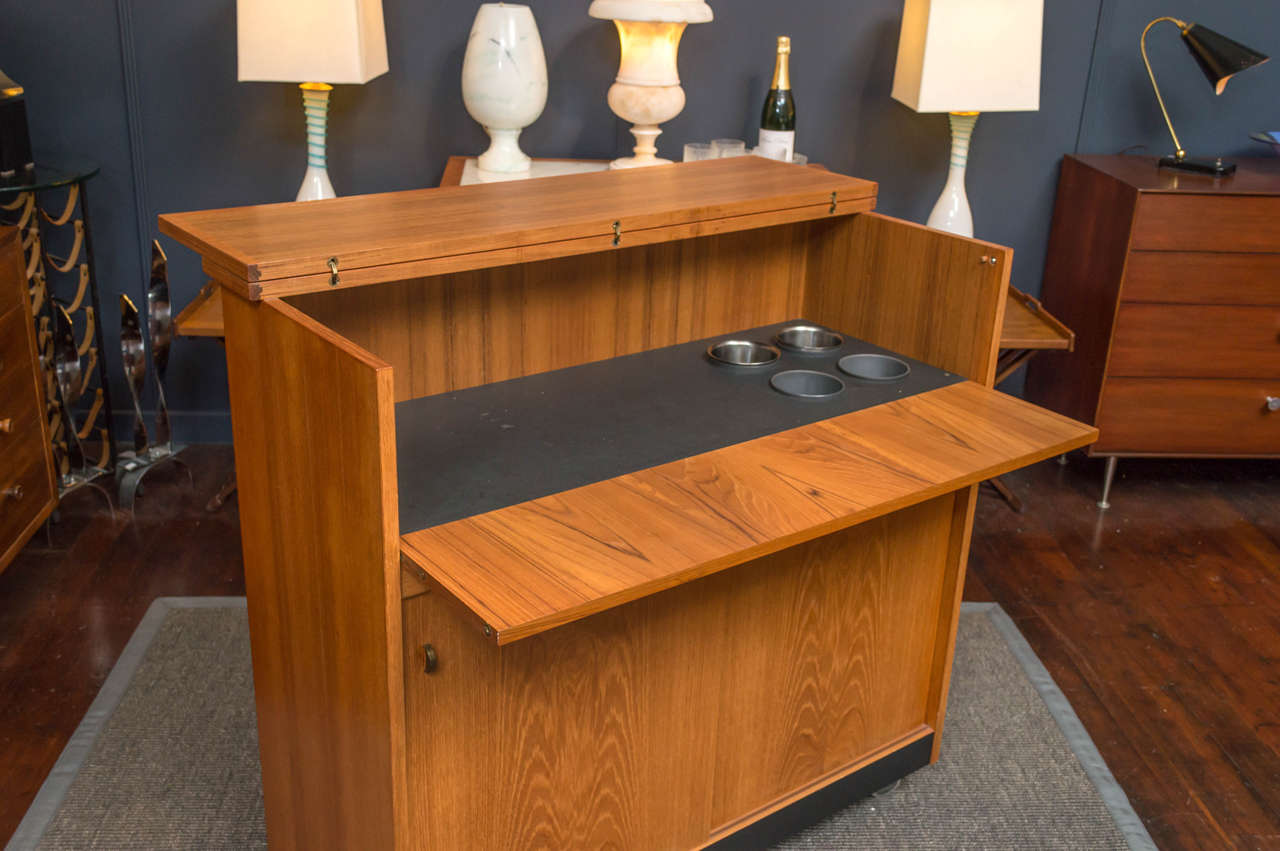 Picture of: Danish Bar Cabinet At 1stdibs