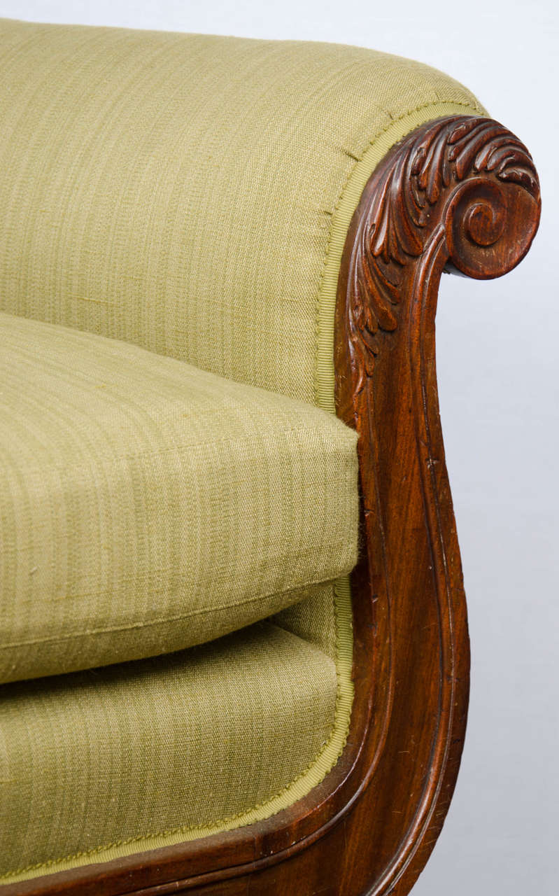 Regency Mahogany Library Bergere In Excellent Condition For Sale In London, GB