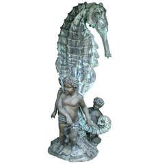 Bronze Seahorse Fountain