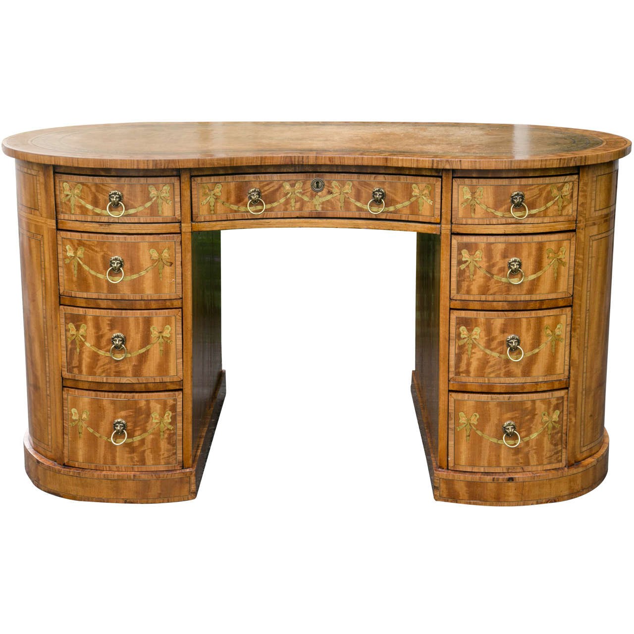 Edwardian kidney shaped desk for sale at 1stdibs for Kidney desk for sale