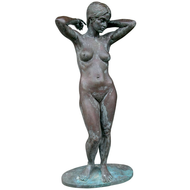 Bronze Nude Maiden Sculpture by Eric Parks For Sale