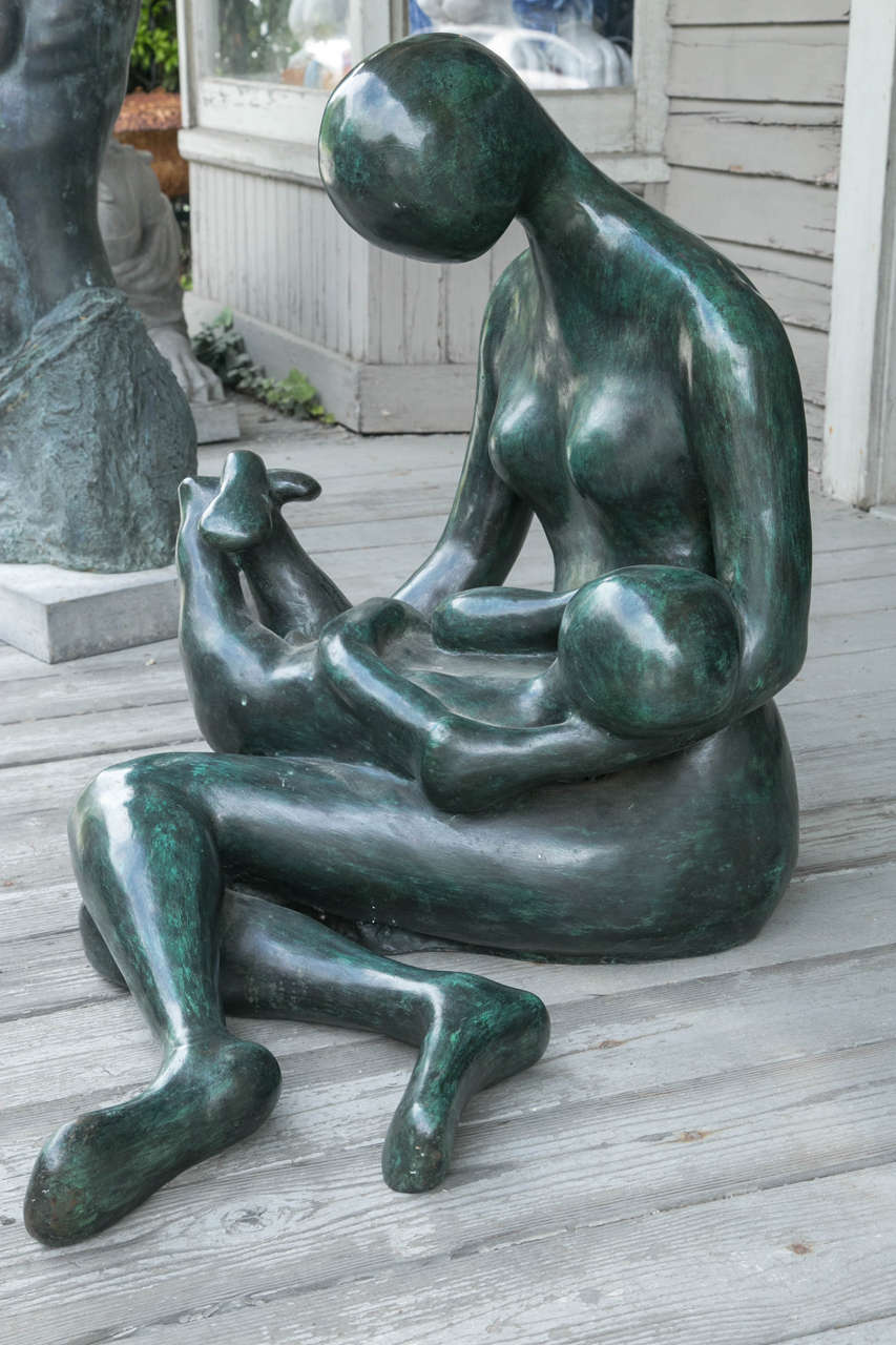 American Modern Bronze by Carol Z For Sale
