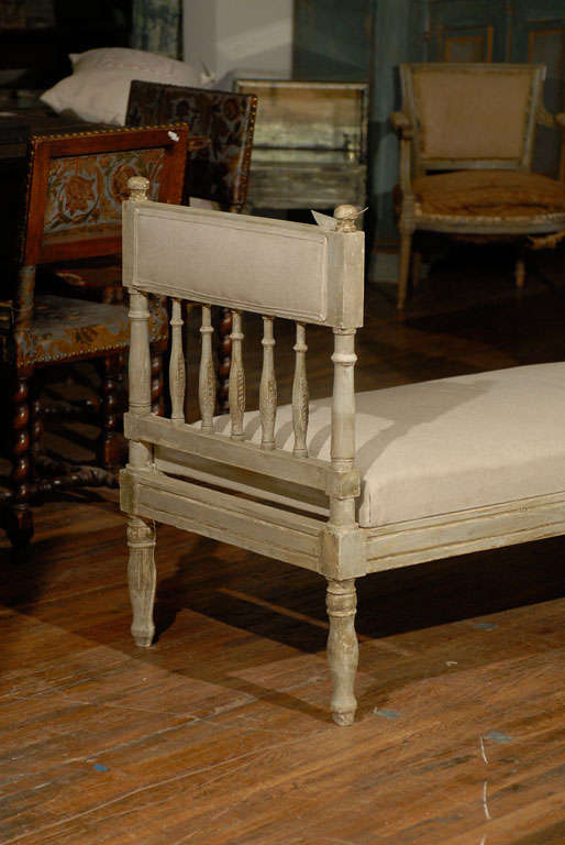 Painted Mid-19th Century Swedish Gustavian Style Daybed