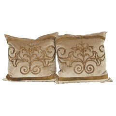 Antique Embroidery Pillows