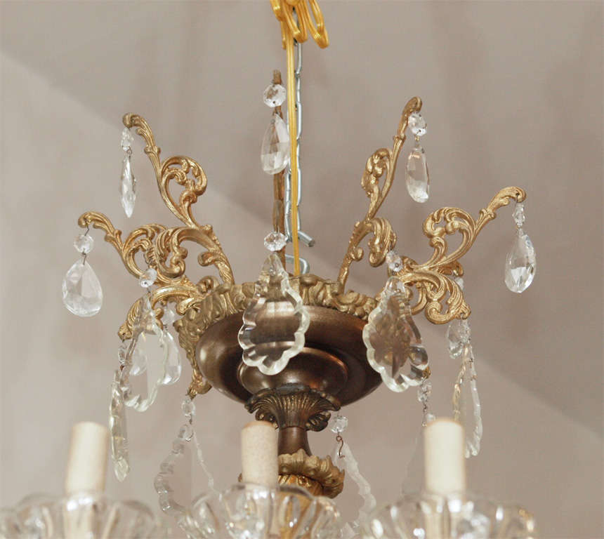 Bronze and Crystal Chandelier 2