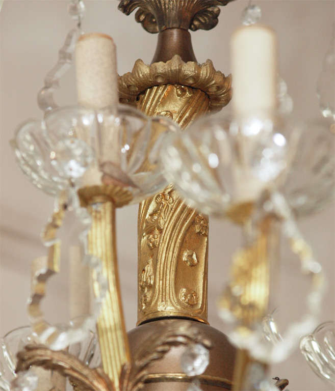 Bronze and Crystal Chandelier 3