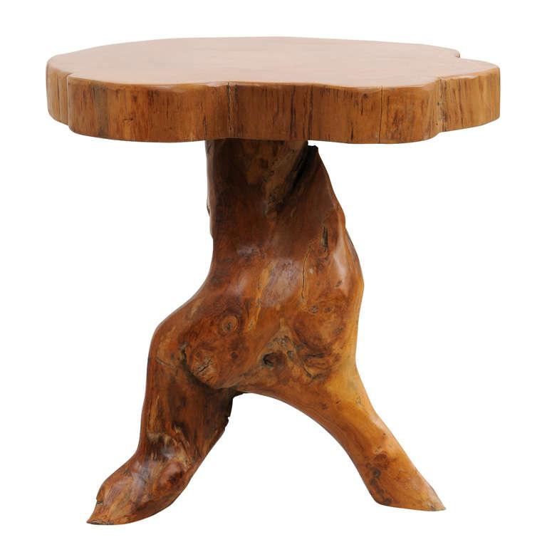 natural wood trunk side table at 1stdibs. Black Bedroom Furniture Sets. Home Design Ideas