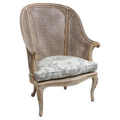 Unique Louis XVI Style Caned High Back Chair
