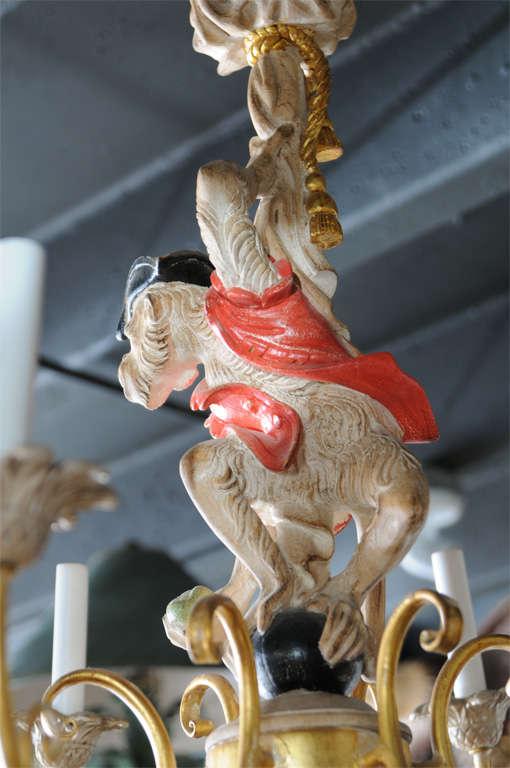 Vintage Hand Carved Monkey Chandelier At 1stdibs