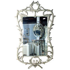 Monumental Silver Over-Lay Mirror